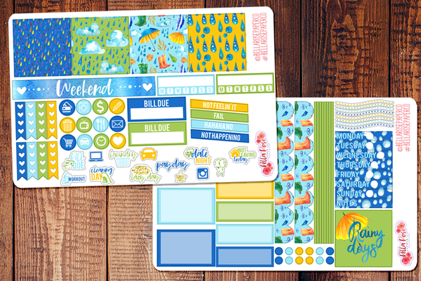 April Showers Spring Mini Happy Planner Sticker Kit