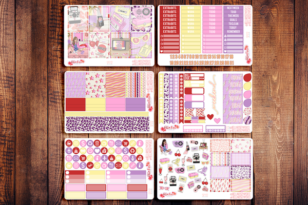 Throwback Planner Sticker Kit SP312