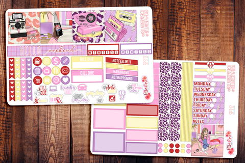 Throwback Mini Happy Planner Sticker Kit SP312