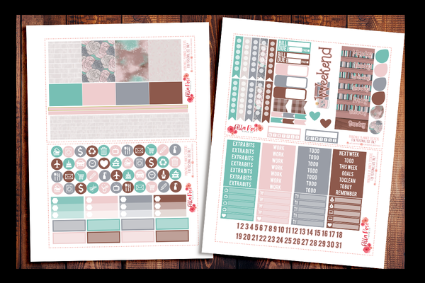 School Babe Happy Planner Kit | PRINTABLE PLANNER STICKERS