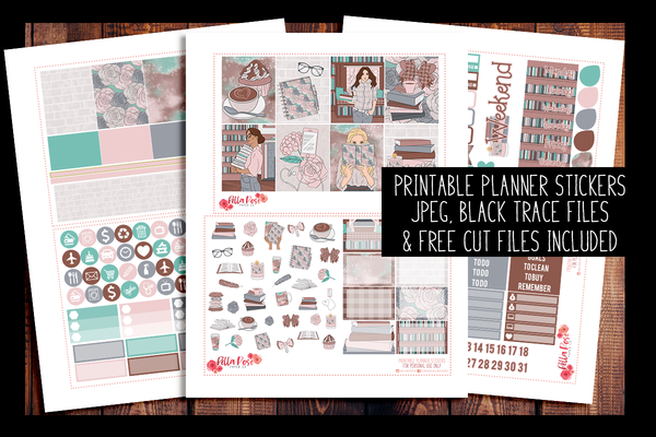 School Babe Planner Kit | PRINTABLE PLANNER STICKERS