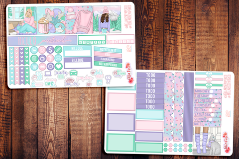 Snowed In Mini Happy Planner Sticker Kit W309