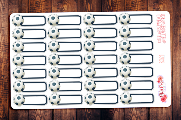 Soccer Game Planner Stickers B061