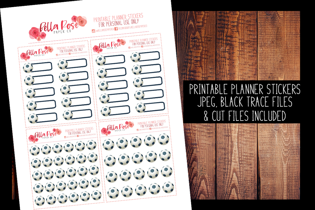Soccer Planner Stickers | PRINTABLE PLANNER STICKERS