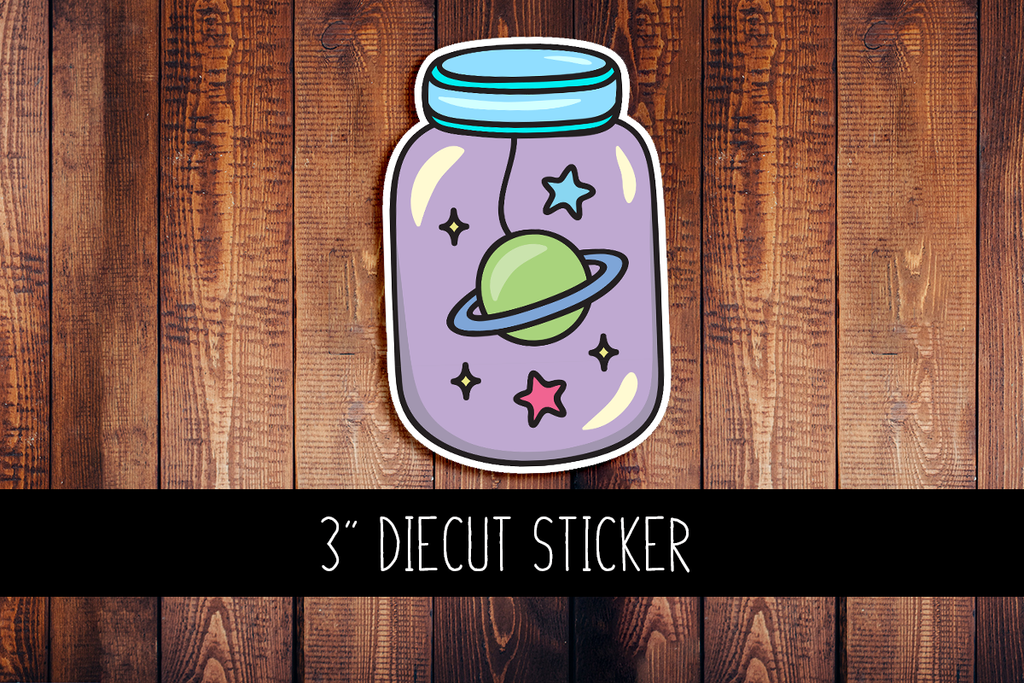 Space Jar Diecut Sticker