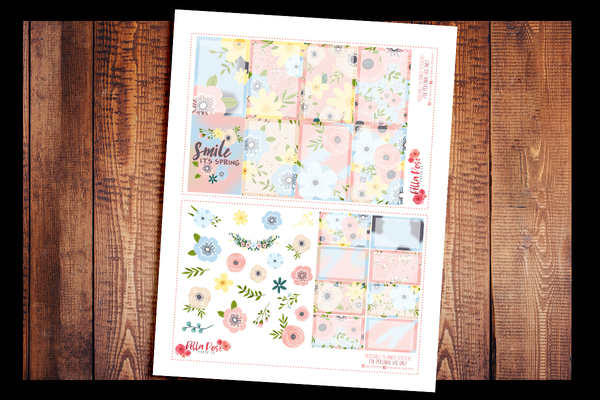 Spring Florals Happy Planner Kit | PRINTABLE PLANNER STICKERS