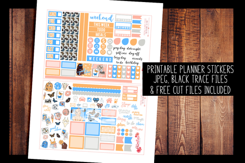 First Day Of Spring Hobonichi Weeks Kit | PRINTABLE PLANNER STICKERS