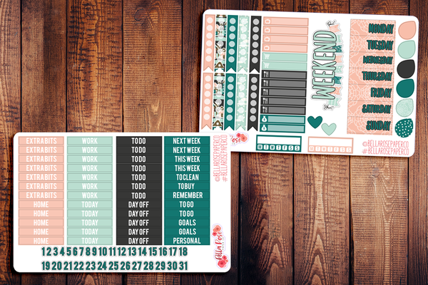 Let's Stay Home Planner Sticker Kit W001