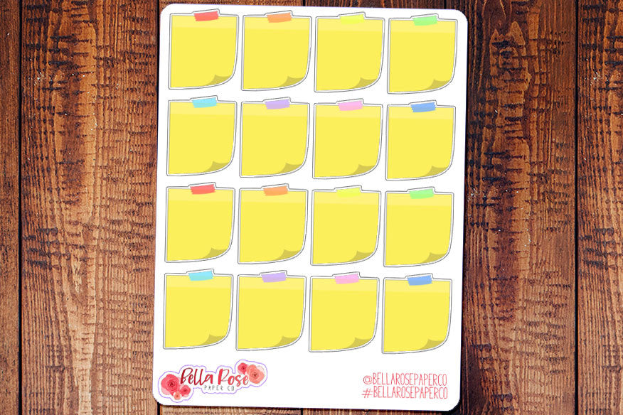 Sticky Note Planner Stickers