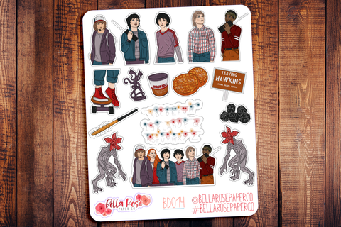 Stranger Things Deco Planner Stickers BD015