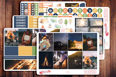 Summer Nights Photo Planner Sticker Kit SM203