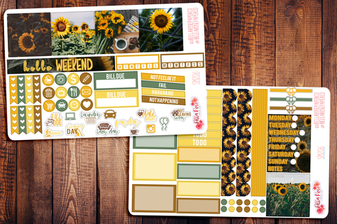 Sunflower Photo Mini Happy Planner Sticker Kit SM206