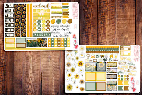 Sunflower Photo Hobonichi Weeks Sticker Kit SM206