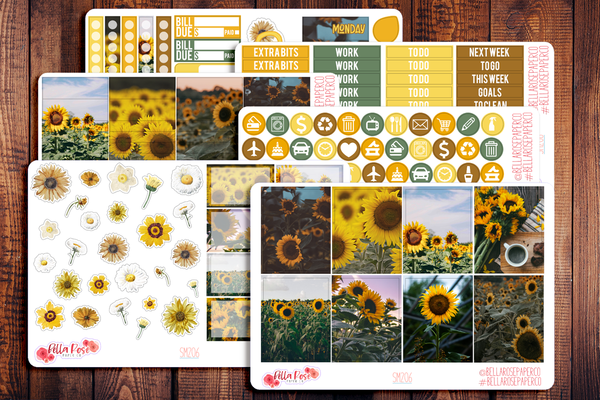 Sunflower Photo Planner Sticker Kit SM206