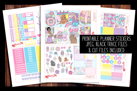 Sweet Summer Happy Planner Kit | PRINTABLE PLANNER STICKERS
