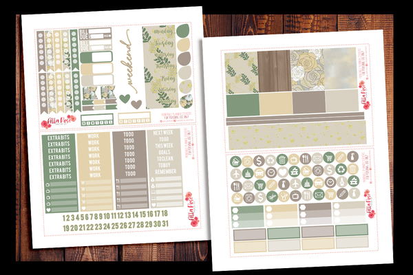 Thanksgiving Planner Kit | PRINTABLE PLANNER STICKERS