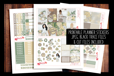 Thanksgiving Happy Planner Kit | PRINTABLE PLANNER STICKERS