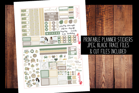 Thanksgiving Hobonichi Weeks Kit | PRINTABLE PLANNER STICKERS