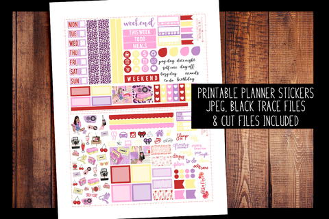 Throwback Hobonichi Weeks Kit | PRINTABLE PLANNER STICKERS