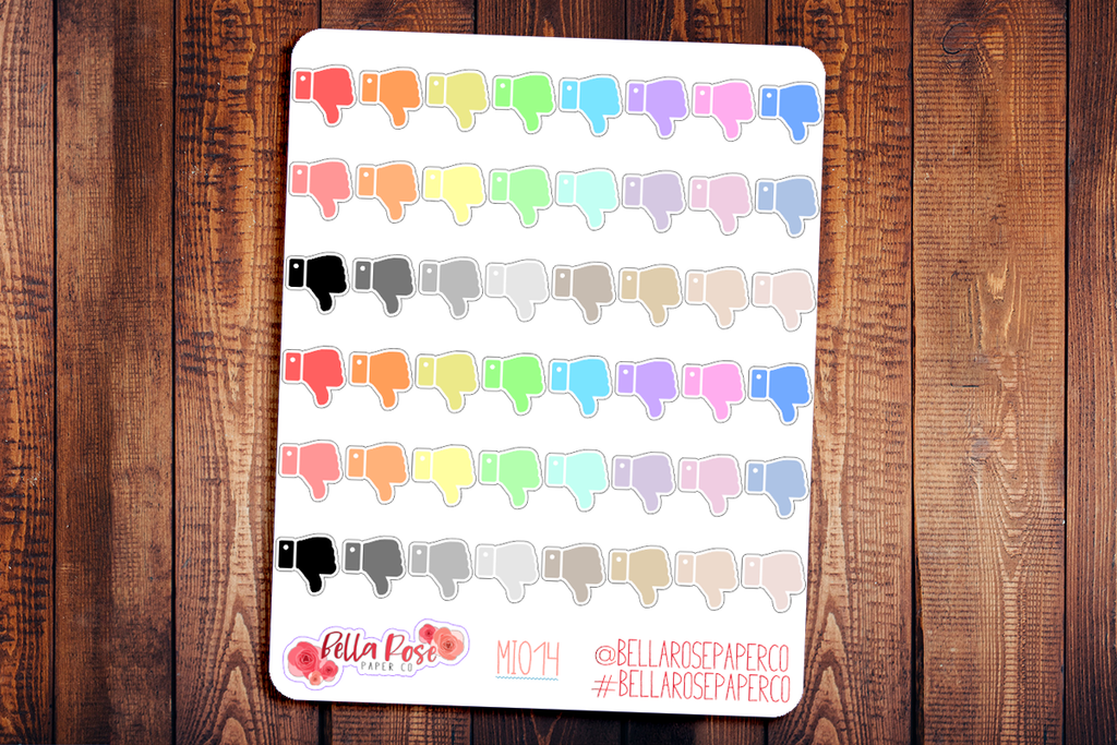 Thumbs Down Mini Icon Planner Stickers MI014