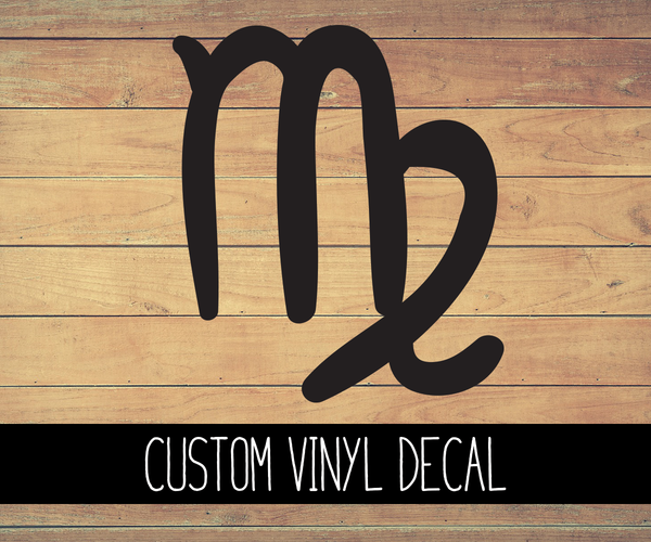 Virgo Sign Vinyl Decal