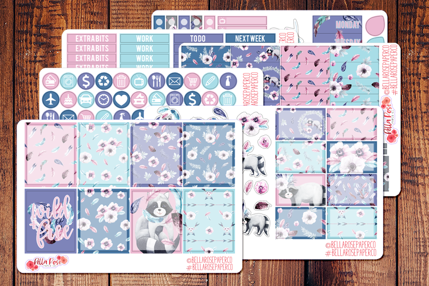 Wild and Free Planner Sticker Kit