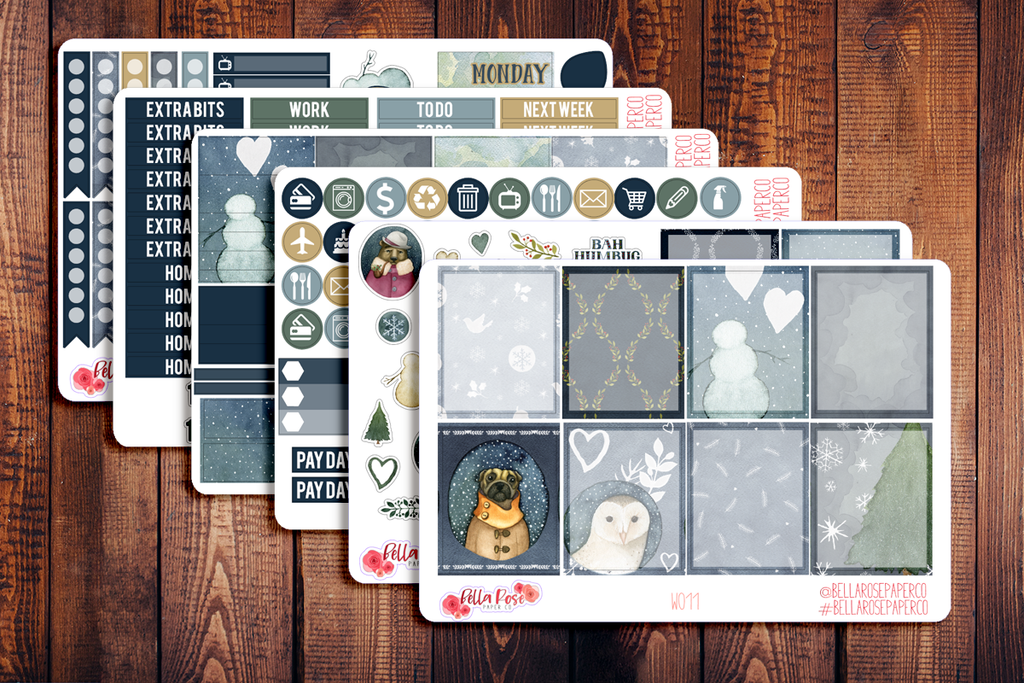 Winter Nights Planner Sticker Kit W011