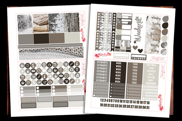 Winter Photo Planner Kit | PRINTABLE PLANNER STICKERS
