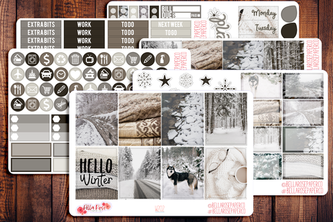 Winter Photo Planner Sticker Kit W202