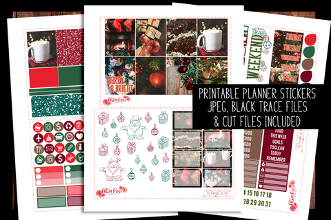 Christmas Photography Planner Kit | PRINTABLE PLANNER STICKERS