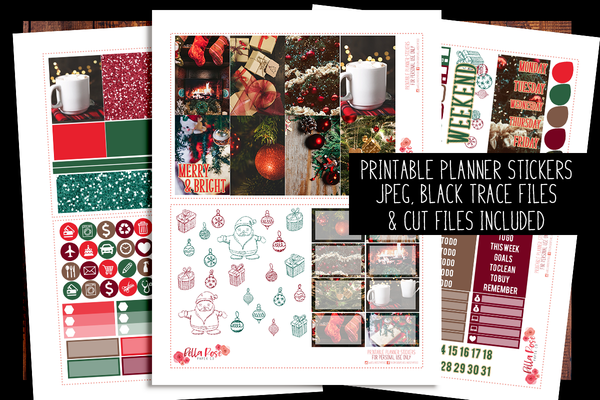 Christmas Photography Happy Planner Kit | PRINTABLE PLANNER STICKERS