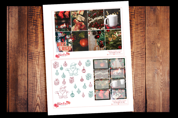 Christmas Photo Planner Kit | PRINTABLE PLANNER STICKERS