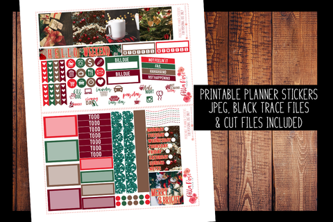 Christmas Photography Mini Happy Planner Kit | PRINTABLE PLANNER STICKERS