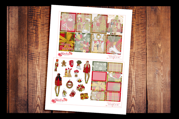 Merry Christmas Planner Kit | PRINTABLE PLANNER STICKERS
