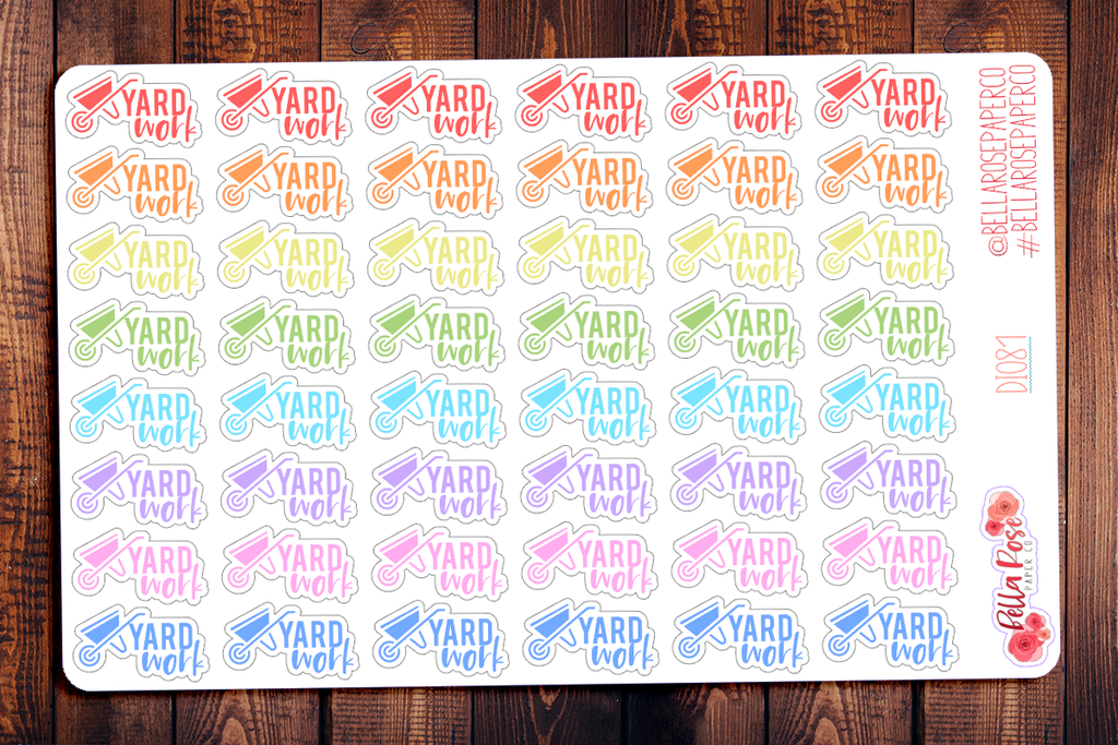 Yard Work Planner Stickers DI081