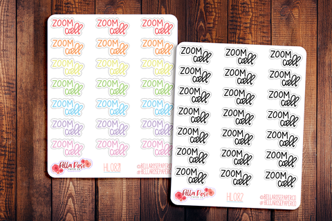 Zoom Call Hand Lettering Planner Stickers HL082