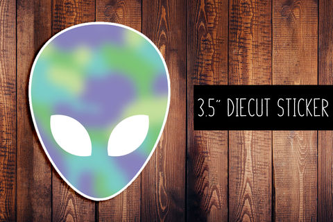 Alien Diecut Sticker