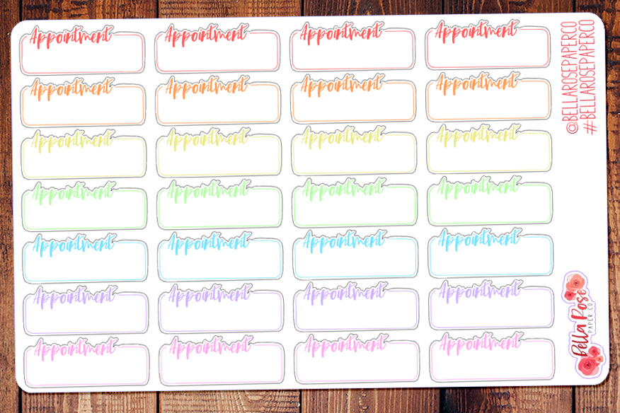 Appointment Quarter Box Planner Stickers B031