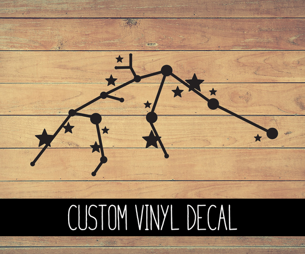 Aquarius Zodiac Constellation Vinyl Decal