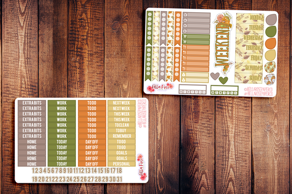 Autumn Breeze Planner Sticker Kit F002