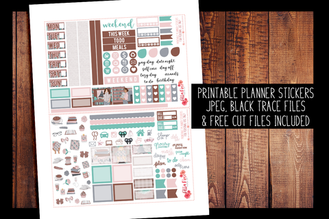 School Babe Hobonichi Weeks Kit | PRINTABLE PLANNER STICKERS