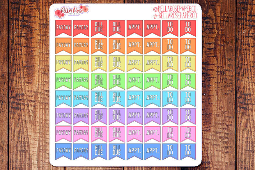 Mini Basic Chore Planner Stickers