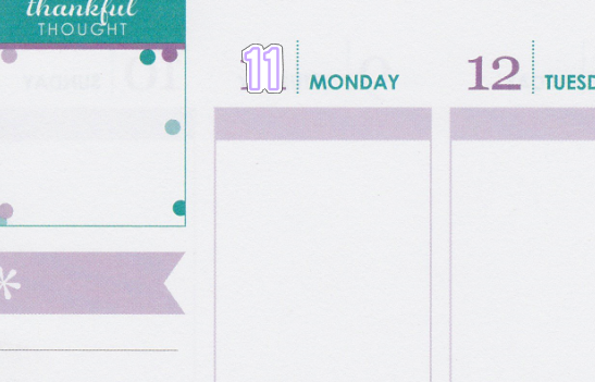 Basic Date Covers Planner Stickers B040
