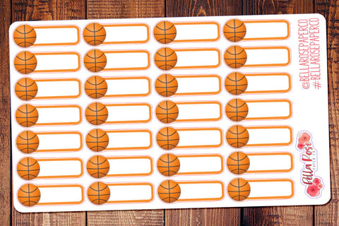 Basketball Game Planner Stickers B032
