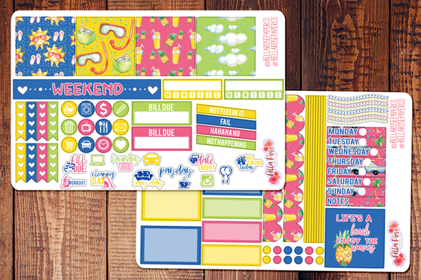 Beach Days Mini Happy Planner Sticker Kit
