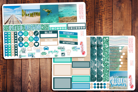 Beach Photography Mini Happy Planner Sticker Kit SM002