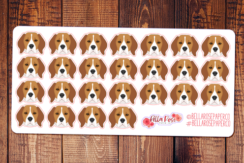 Beagle Dog Planner Stickers