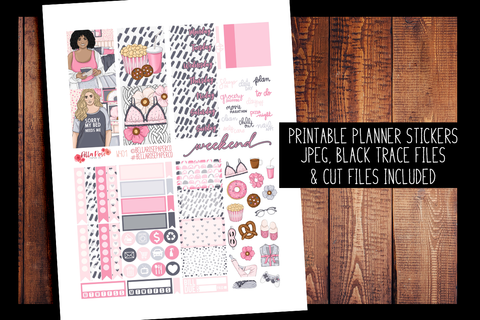 Bed Head Mini Planner Kit | PRINTABLE PLANNER STICKERS