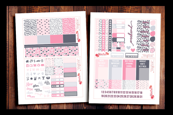 Bed Head Happy Planner Kit | PRINTABLE PLANNER STICKERS