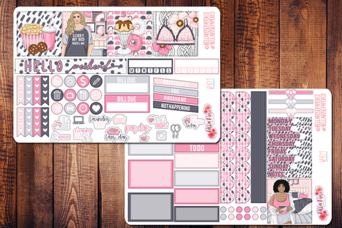 Bed Head Mini Happy Planner Sticker Kit W401